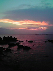 葉山の夕焼け